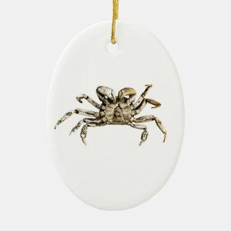 Dark Crab Photo Ceramic Ornament