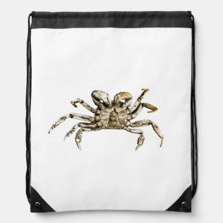 Dark Crab Photo Drawstring Bag