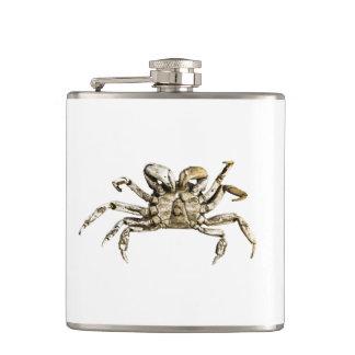 Dark Crab Photo Hip Flask