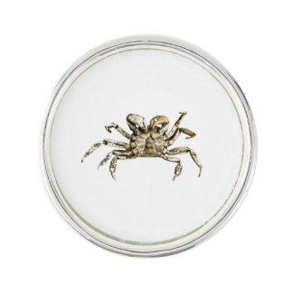 Dark Crab Photo Lapel Pin