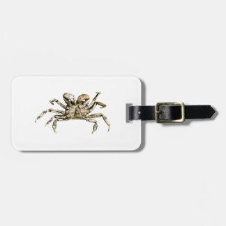 Dark Crab Photo Luggage Tag