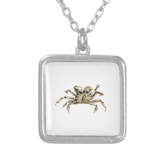 Dark Crab Photo Silver Plated Necklace