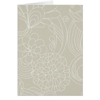 Dark Cream flower Lines Cards