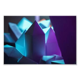 Dark Crystals - Deep Purple Hues - Paper Models Photo Print
