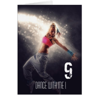 Dark Dance Light Shake Sports Active Girl Card