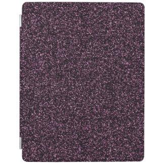 Dark dark pink glitter iPad cover