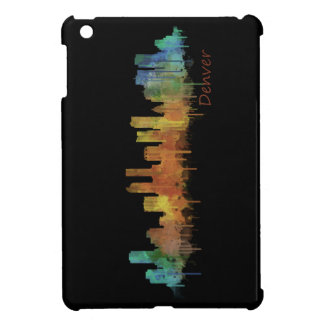 Dark Denver Colorado City Watercolor Skyline Hq v2 iPad Mini Case