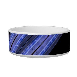 Dark Diagonal Stripes Pattern Bowl