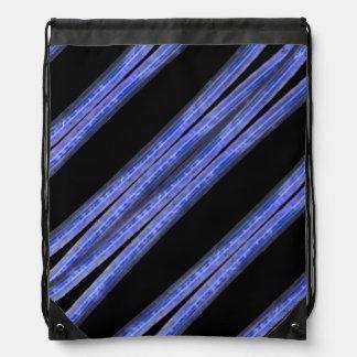 Dark Diagonal Stripes Pattern Drawstring Bag