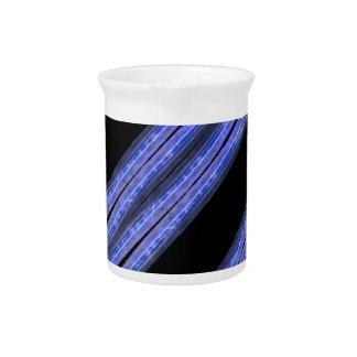 Dark Diagonal Stripes Pattern Pitcher