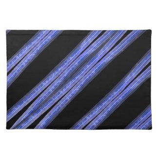 Dark Diagonal Stripes Pattern Placemat