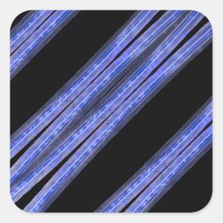 Dark Diagonal Stripes Pattern Square Sticker