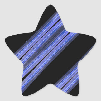 Dark Diagonal Stripes Pattern Star Sticker