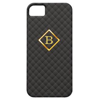 Dark Diamond Patterns Monogram iPhone 5 Case