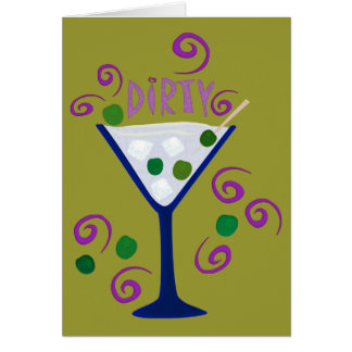 Dark & Dirty Martini Card