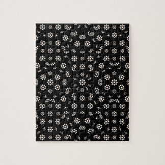 Dark Ditsy Floral Pattern Jigsaw Puzzle