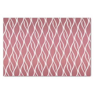 Dark Dusty Rose and Swirl Curves Tissue Paper