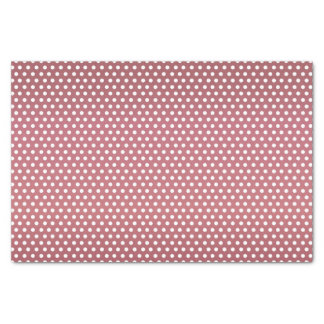 Dark Dusty Rose and White Polka Dots Tissue Paper