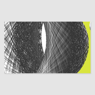dark earth graphic art rectangular stickers