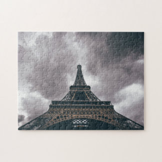 Dark Eiffel Tower Jigsaw Puzzle
