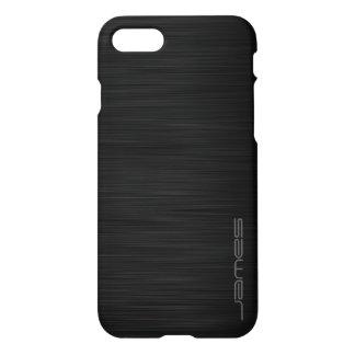 dark elegant perforated metal personalised by name iPhone 7 case