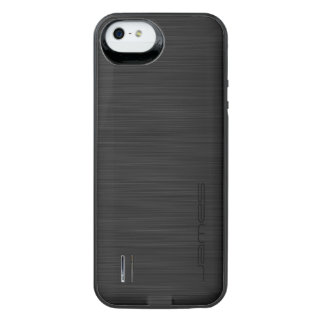 dark elegant perforated metal personalised by name iPhone SE/5/5s battery case