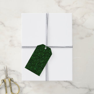 Dark Emerald Green Glitter Gift Tags