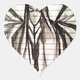 Dark Entity (Sketch) Heart Sticker