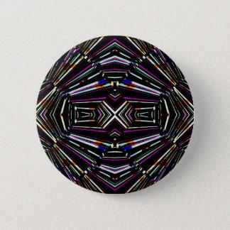 Dark Ethnic Sharp Bold Pattern 6 Cm Round Badge