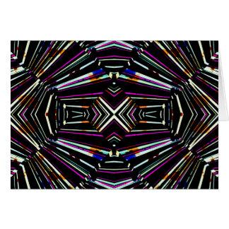 Dark Ethnic Sharp Bold Pattern Card