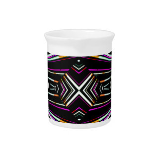 Dark Ethnic Sharp Bold Pattern Pitcher