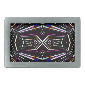 Dark Ethnic Sharp Bold Pattern Rectangular Belt Buckle