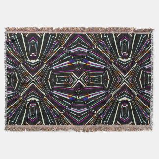 Dark Ethnic Sharp Bold Pattern Throw Blanket