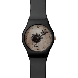 Dark Evil Bug Gives Flower Vintage Texture Watch