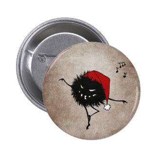 Dark Evil Christmas Bug 6 Cm Round Badge