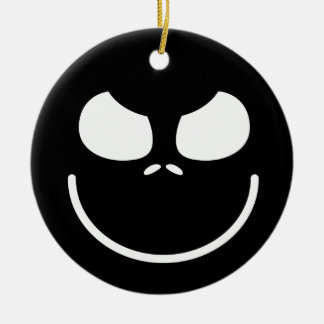 Dark Evil Smiley Face Christmas Ornament