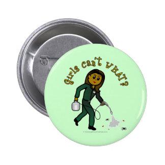 Dark Exterminator Girl Button