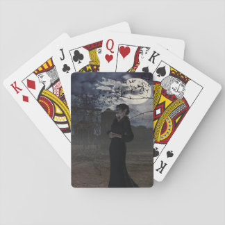 Dark Fairy in Moonlight Playing Cards