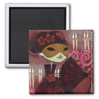Dark Fairy Tale Character 10 - Masked Lady Fridge Magnets