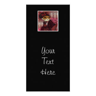 Dark Fairy Tale Character 10 - Masked Lady Photo Card Template