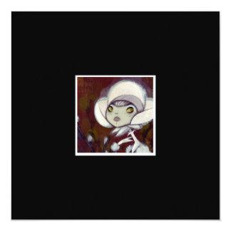 """Dark Fairy Tale Character 11 5.25"""" Square Invitation Card"""