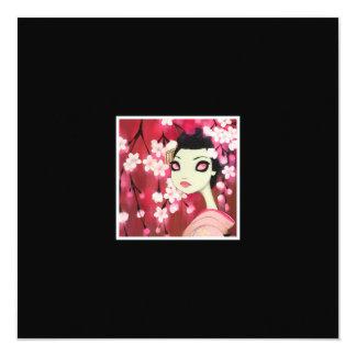 """Dark Fairy Tale Character 12 5.25"""" Square Invitation Card"""