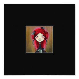 """Dark Fairy Tale Character 14 5.25"""" Square Invitation Card"""