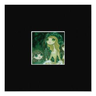 """Dark Fairy Tale Character 15 5.25"""" Square Invitation Card"""