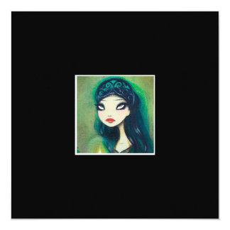 """Dark Fairy Tale Character 17 5.25"""" Square Invitation Card"""