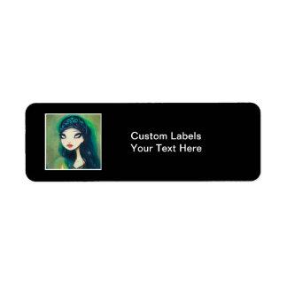 Dark Fairy Tale Character 17 Return Address Label