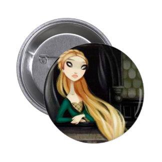 Dark Fairy Tale Character 2 - Rapunzel 6 Cm Round Badge