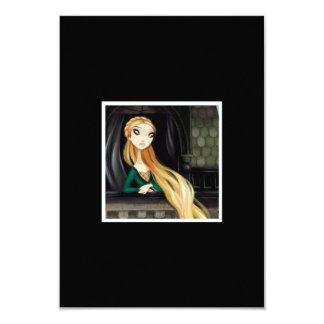 Dark Fairy Tale Character 2 - Rapunzel Personalized Invite