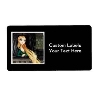Dark Fairy Tale Character 2 - Rapunzel Shipping Label