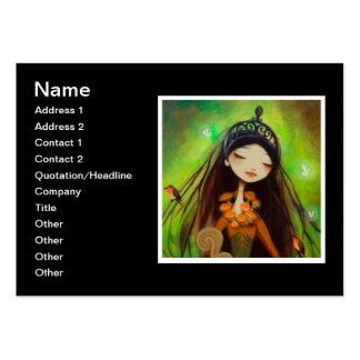 Dark Fairy Tale Character 4 Business Card Templates